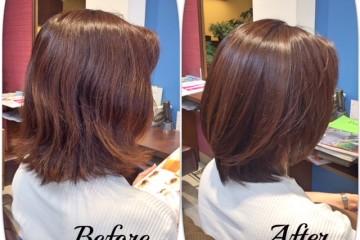 髪質改善ストレートの半分はトリートメント成分なので髪質改善します!!